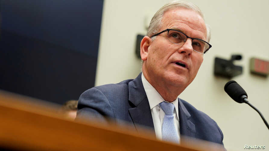 FILE - Daniel Elwell, acting administrator of the Federal Aviation Administration, testifies during a hearing on Capitol Hill in Washington, May 15, 2019.