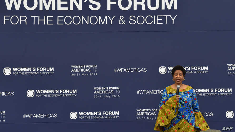 The Executive Director of U.N. Women, Phumzile Mlambo-Ngcuka, speaks during the Women's Forum Americas in Mexico City, Mexico, May 30, 2019.
