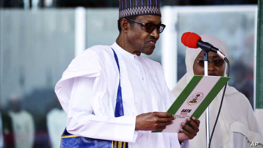 Nigerian President Muhammadu Buhari is sworn in for a second four-year term in Africa's most populous nation in Abuja, Nigeria, May 29, 2019.
