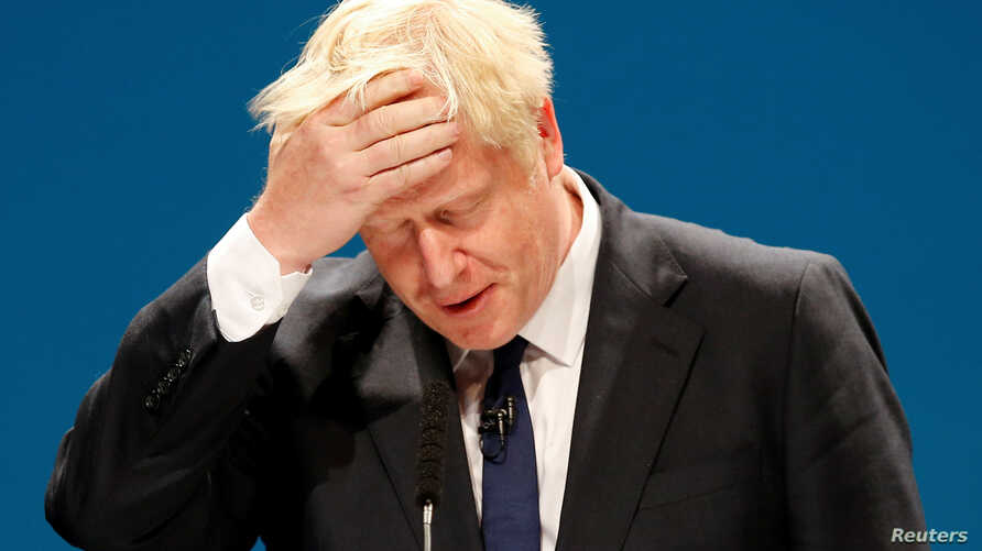 FILE -  Boris Johnson, a leadership candidate for Britain's Conservative Party, attends a hustings event in Manchester, Britain, June 29, 2019.