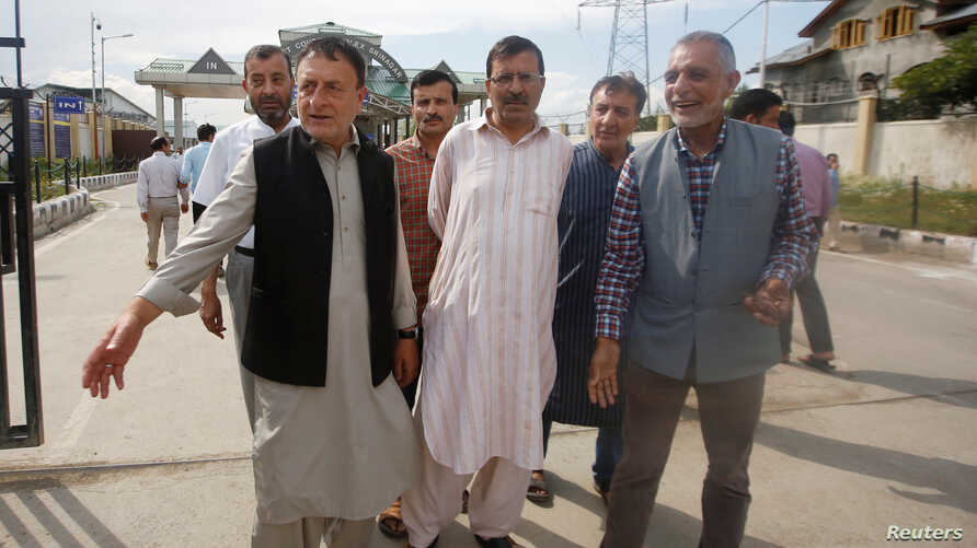 Ghulam Jeelani Qadri, a journalist and the publisher of the Urdu-language newspaper Daily Afaaq, leaves after a court granted him bail, in Srinagar, June 25, 2019.