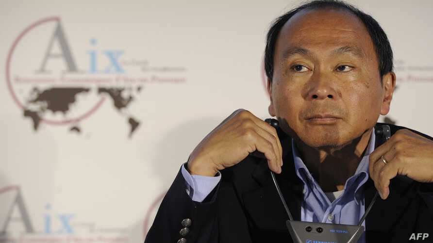 FILE - American political economist, chairman of the editorial board of The American Interest and author Francis Fukuyama, attends the 2013 Economic Forum in Aix-en-Provence, July 5, 2013.