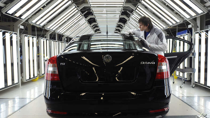 FILE - The biggest Czech car maker Skoda Auto, member of international VW group, started the official full-scale production of Skoda Octavia in Kaluga, central Russia.