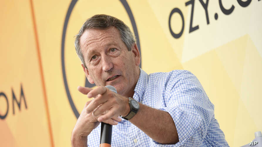 FILE - Republican politician Mark Sanford speaks at OZY Fest in Central Park on July 21, 2018, in New York.