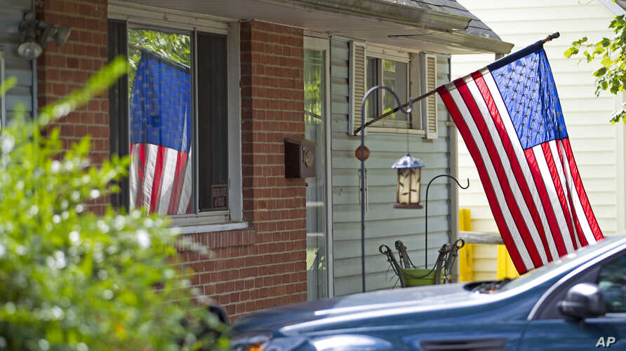FILE - The house of Harold Thomas Martin III is seen in Glen Burnie, Md.