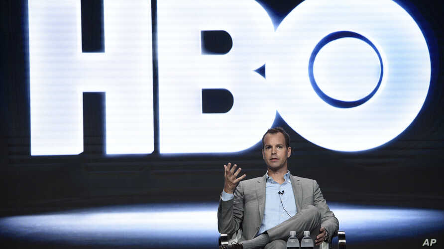 Casey Bloys, president, HBO programming, participates in a panel during the HBO Television Critics Association Summer Press Tour at the Beverly Hilton on Wednesday, July 26, 2017, in Beverly Hills, Calif.