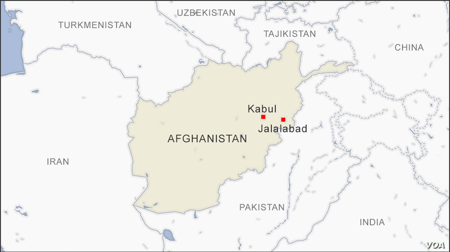 Map of Kabul and Jalalabad Afghanistan