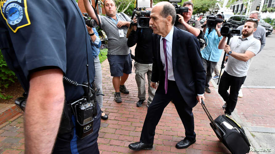 Mitchell Garabedian, attorney for the man who accused actor Kevin Spacey of sexual assault, arrives for a hearing at Nantucket District Court in Nantucket, Massachusetts, U.S., July 8, 2019.