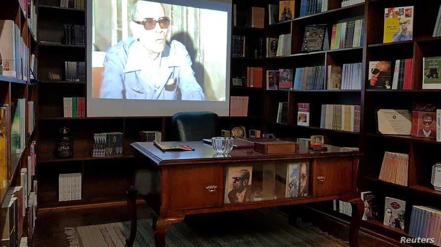 Office of late author Naguib Mahfouz in his museum in Cairo, Egypt, July 14, 2019.