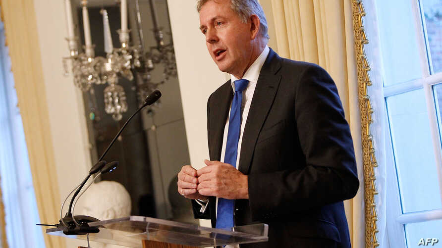 British Ambassador Kim Darroch speaks at an Afternoon Tea at The British Embassy in Washington, D.C., Jan. 18,2017.