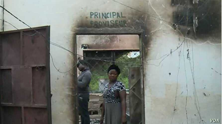 Government Bilingual High School in Fontem, South West Cameroon. ( PHoto: M. Kindzeka / VOA)