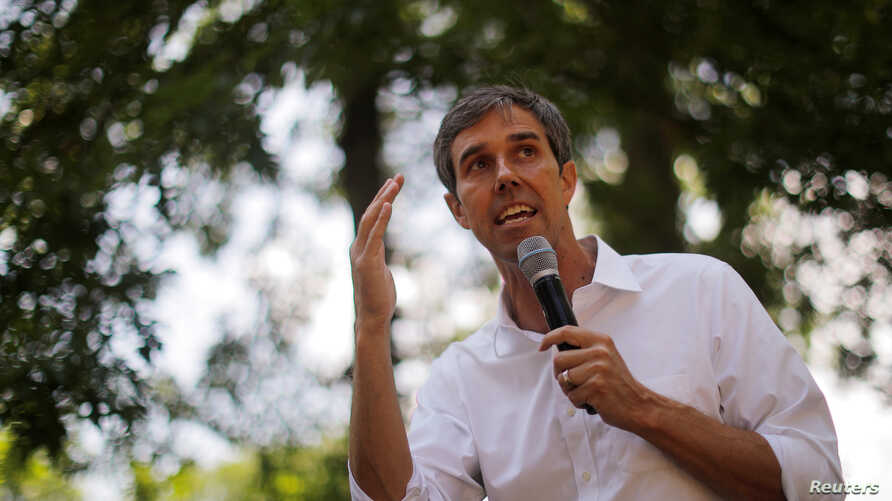 Democratic 2020 U.S. presidential candidate and former U.S. Representative Beto O'Rourke speaks during a campaign stop in Manchester, New Hampshire, July 13, 2019.