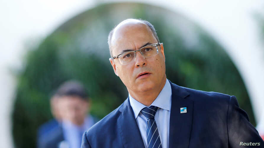 Rio de Janeiro's Governor Wilson Witzel is seen after a meeting with Brazil's President Jair Bolsonaro at the Senate President's home in Brasilia, Brazil, May 8, 2019.