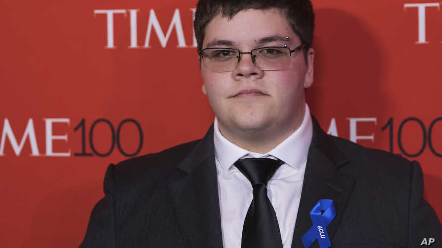 Gavin Grimm attends the TIME 100 Gala, celebrating the 100 most influential people in the world, at Frederick P. Rose Hall, Jazz at Lincoln Center, April 25, 2017, in New York.