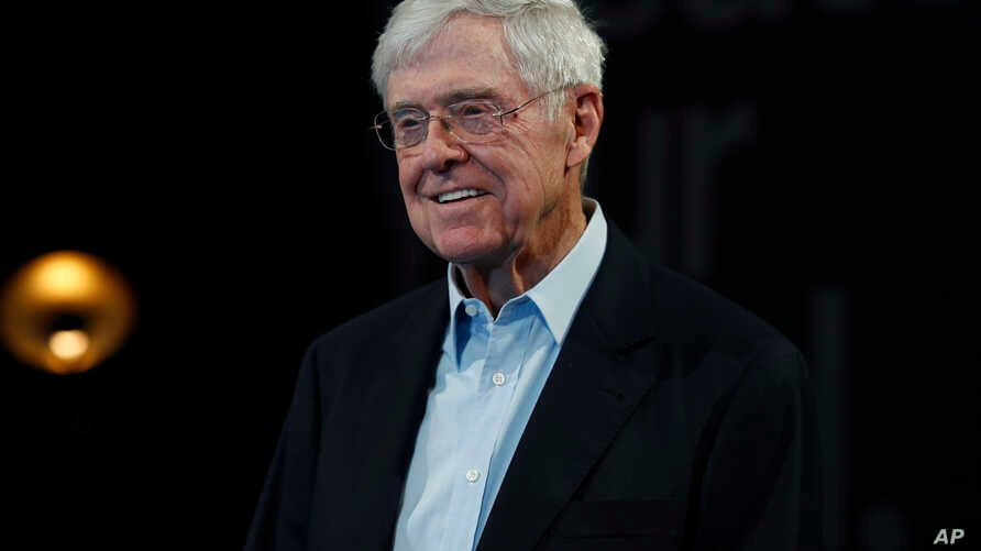 In this Saturday, June 29, 2019, file photograph, Charles Koch, chief executive officer of Koch Industries, is shown at The Broadmoor Resort in Colorado Springs, Colo.