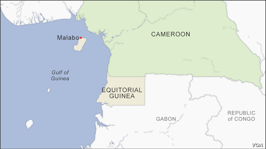 Map of Equitorial Guinea