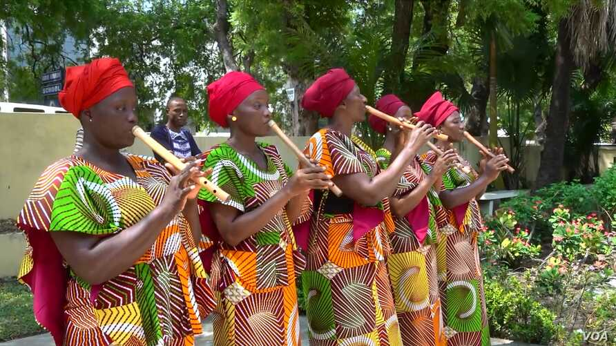 Performers at 'Panafest,' a biannual festival in Accra, Ghana that celebrates the idea of Pan-Africanism