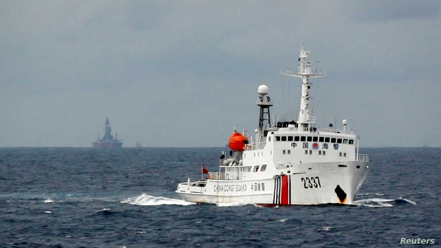 FILE - A Chinese Coast Guard vessel is seen in the South China Sea, June 13, 2014.