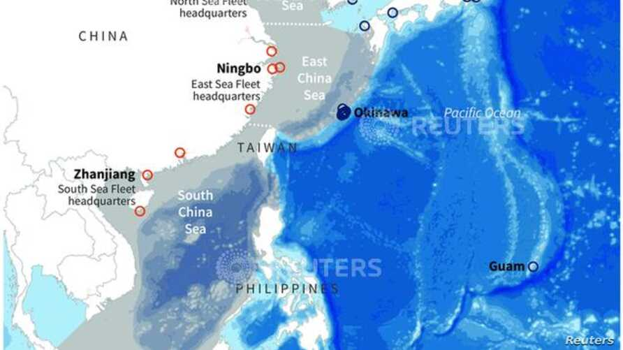 "China now rules the waves in what it calls the San Hai, or ""Three Seas"": the South China Sea, East China Sea and Yellow Sea."