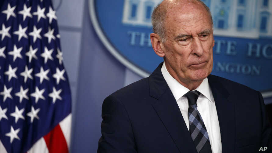 Director of National Intelligence Dan Coats is seen at a briefing at the White House, Aug. 2, 2018, in Washington.