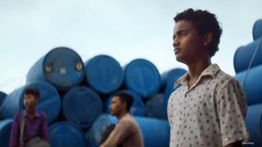 """Actor Sarm Heng as rural Cambodian boy Chakra in the film, """"Buoyancy."""""""