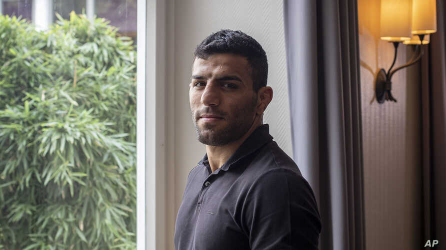 Iranian judoka Saeid Mollaei poses for a portrait photo at an undisclosed southern city of Germany, Sept. 12, 2019.