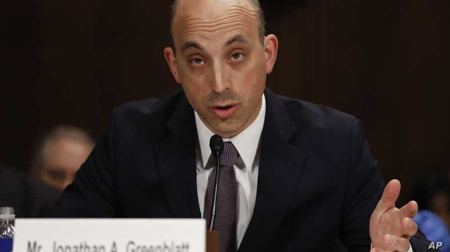 In this May 2, 2017 file photo, Jonathan Greenblatt, CEO and National Director of the Anti-Defamation League, speaks on Capitol Hill in Washington.