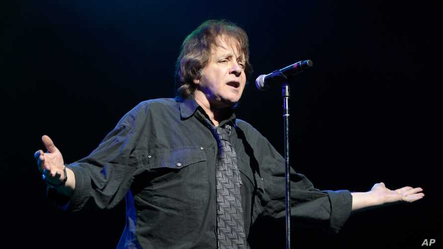 FILE - Classic-rock musician Eddie Money performs at the American Music Theatre in Lancaster, Pennsylvania, Jan. 31, 2013.