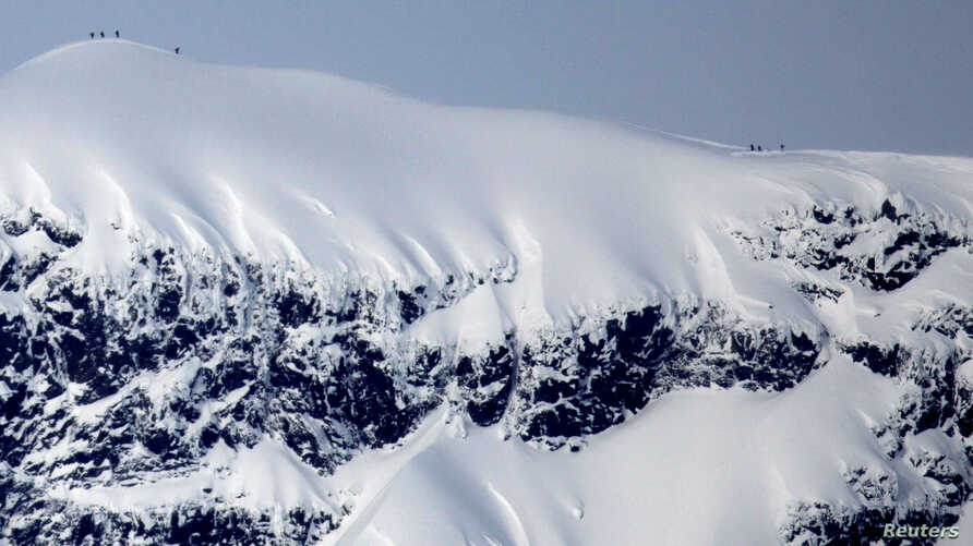 Sweden's highest mountain, Kebnekaise, is seen March 17, 2012.