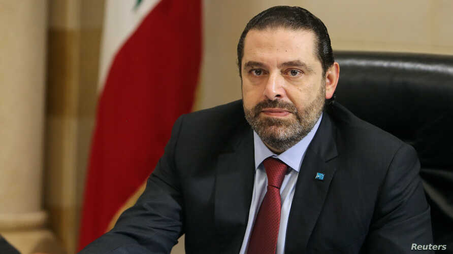 FILE - Lebanese Prime Minister Saad al-Hariri is seen during a meeting at the governmental palace in Beirut, Lebanon, Feb. 6, 2019.