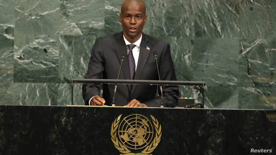 Haitian President Jovenel Moise addresses the 72nd United Nations General Assembly at U.N. headquarters in New York