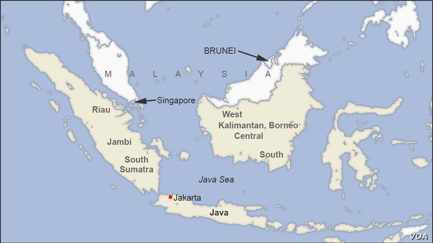 Map of Sumatra and Borneo, Indonesia