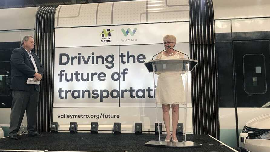 Then-Mayor Thelda Williams at a Metro event in Phoenix, Arizona, July 2018. (City of Phoenix)