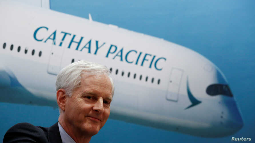 Cathay Pacific Group Chairman John Slosar attends a news conference on the carrier's annual results in Hong Kong, China, March 14, 2018.