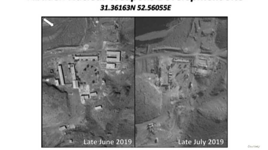 Israel reveals what it says was an Iranian nuclear weapons development site in the central region of Abadeh in these images published online by Israeli Prime Minister Benjamin Netanyahu's office, Sept. 9, 2019.