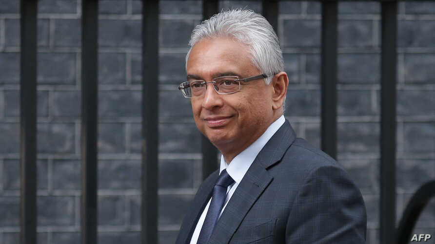 FILE - Mauritius' Prime Minister Pravind Kumar Jugnauth arrives outside 10 Downing Street in London, March 18, 2019.