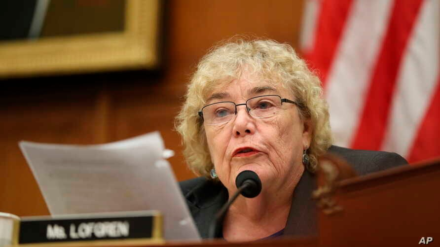 FILE - Rep. Zoe Lofgren, D-Calif., is pictured during a committee hearing on Capitol Hill in Washington, July 24, 2019. Lofgren was the chief sponsor of a bill approved Oct. 23 to better protect the country's elections from foreign interference.