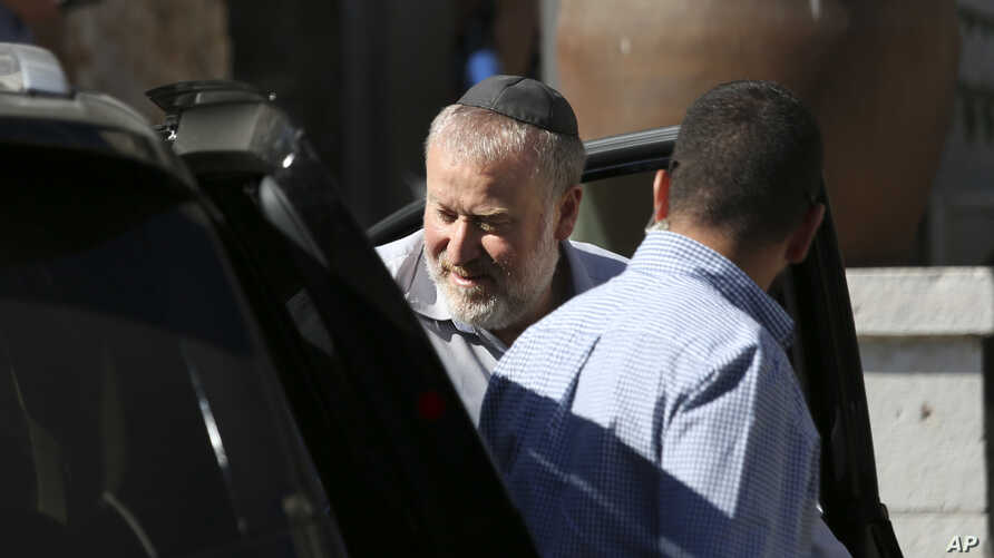 Israel's attorney general Avichai Mandelblit arrives at the Ministry of Justice in Jerusalem for the second day of pre-indictment hearing in the corruption case of Israel's Prime Minister Benjamin Netanyahu, Oct. 3, 2019.