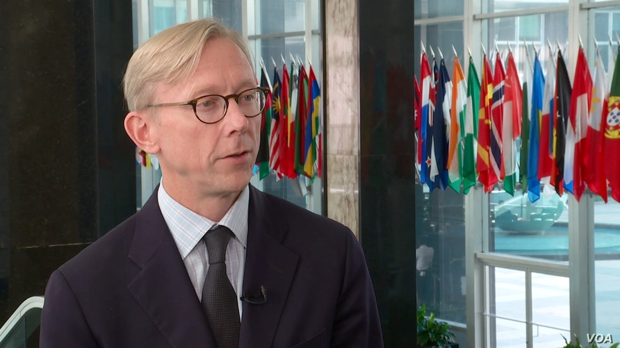 U.S. Special Representative for Iran Brian Hook speaks to VOA Persian at the State Department in Washington on October 4, 2019. (K. Nha, VOA Persian)
