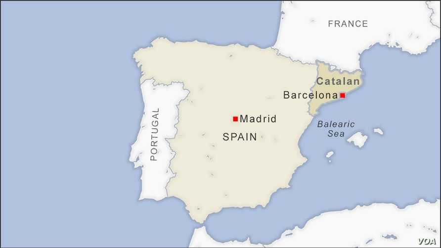 Map of Catalan Spain