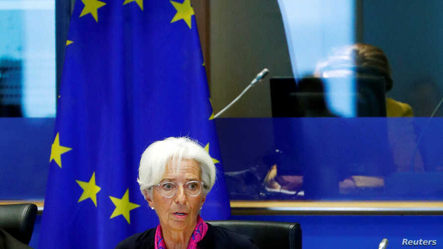Christine Lagarde, the next president of the European Central Bank, speaks to the European Parliament's Economic and Monetary…