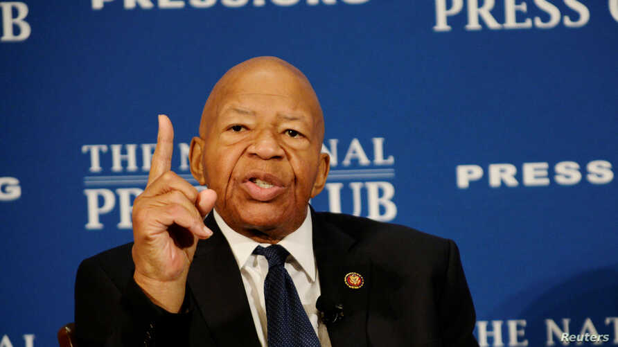 House Oversight and Government Reform Chairman Elijah Cummings (D-MD) addresses a National Press Club luncheon on his …