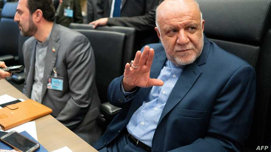 Iran's Oil Minister Bijan Namdar Zanganeh attends the 176th meeting of the Organization of the Petroleum Exporting Countries (OPEC) conference and the 6th meeting of the OPEC and non-OPEC countries, July 1, 2019 in Vienna, Austria.