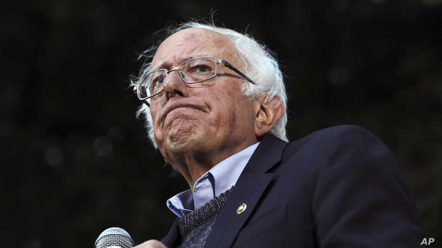 Democratic presidential candidate Sen. Bernie Sanders pauses while speaking at a campaign event at Dartmouth College in Hanover, New Hampshire.
