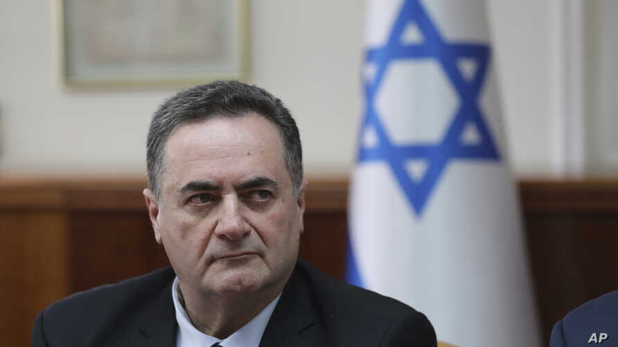 Minister of Foreign Affairs, Israel Katz, attends the weekly cabinet meeting at his office in…