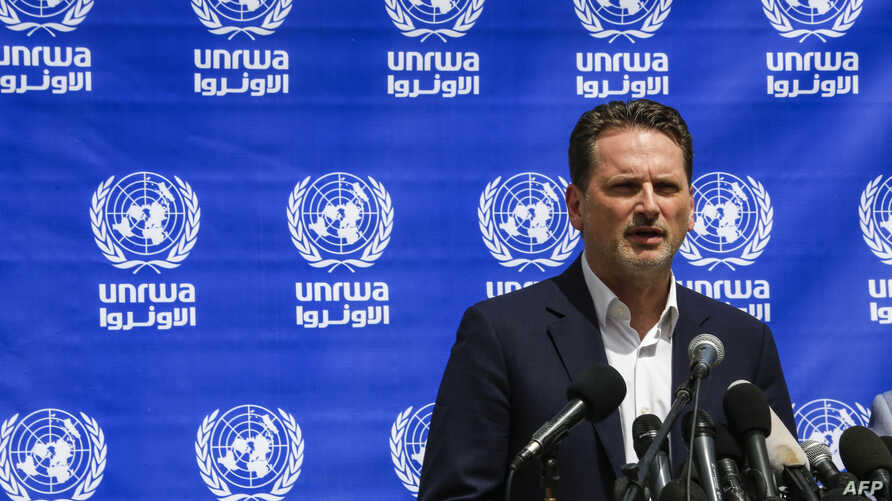 Pierre Krahenbuhl, Commissioner-General of the United Nations Relief and Works Agency for Palestine (UNRWA), gives a press…