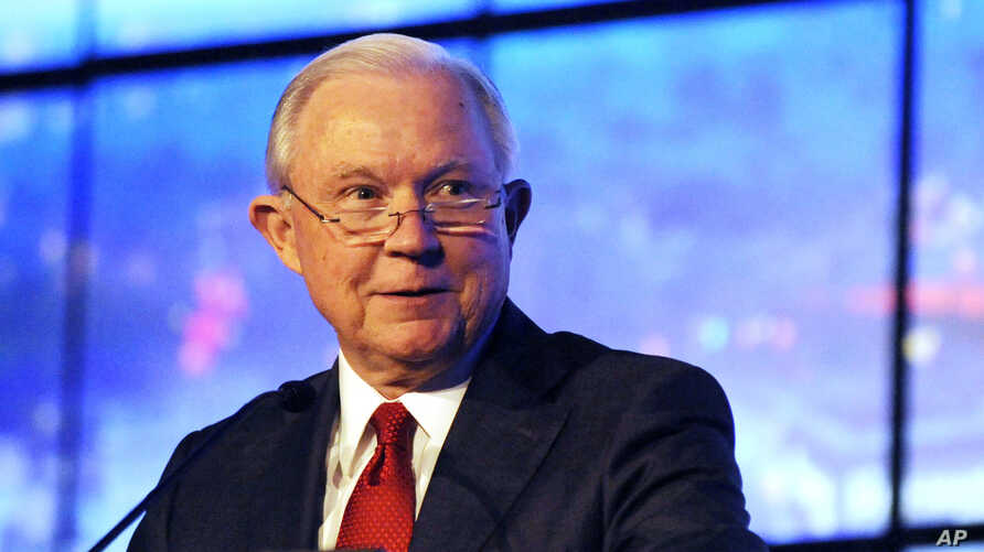 Former U.S. Attorney General Jeff Sessions addresses a business group in Montgomery, Ala., on Tuesday, Dec. 11, 2018. Sessions…