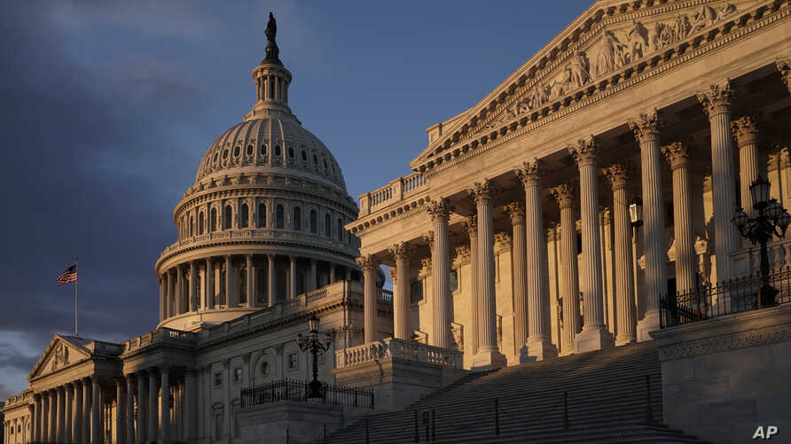 The Capitol is seen in Washington, early Friday, Nov. 8, 2019, as House Democrats continue to probe whether President Donald…
