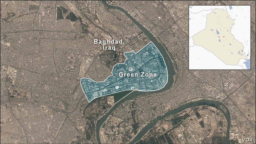 Map of Green Zone, Baghdad, Iraq