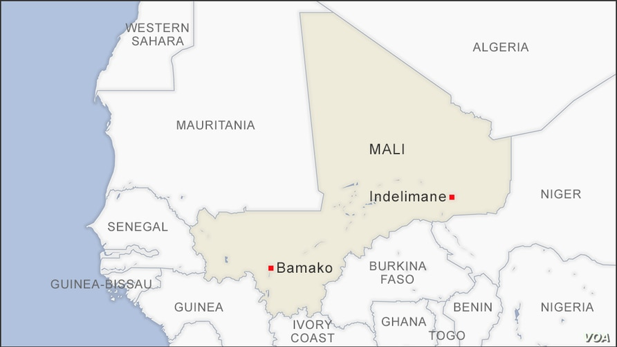 Map of Indelimane Mali